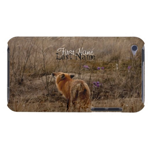 Fox Sniffing the Crocuses; Customizable iPod Case-Mate Cases
