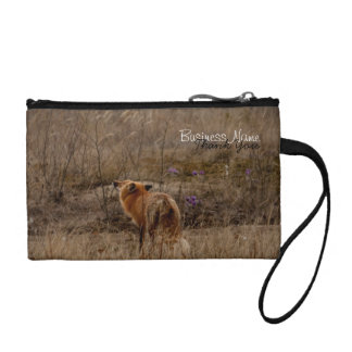 Fox Sniffing the Crocuses; Promotional Change Purse