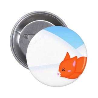 Fox soñoliento animal abstracto pin
