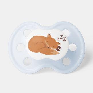 Fox soñoliento chupetes de bebé