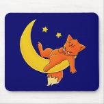 Fox soñoliento de la luna tapete de ratones