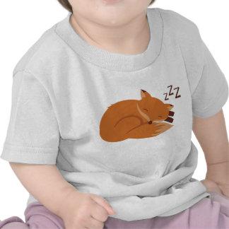 Fox soñoliento camiseta