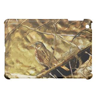 Fox Sparrow Songbird Abstract Impressionism iPad Mini Cases