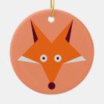 Fox Star Ceramic Ornament