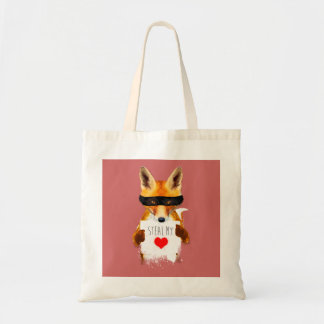Fox Steal my Heart! Tote Bag