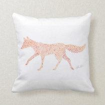 Fox Steps Throw Pillow