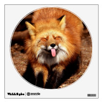 Fox Sticking It's Tongue Out Wall Decal