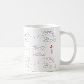Fox style classic white coffee mug