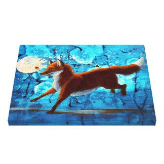 Fox surrealista Kitsune de la fantasía en la Impresiones De Lienzo