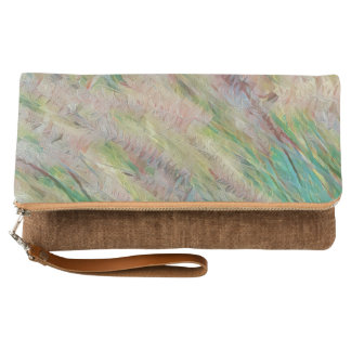 Fox Tails Fold-Over Clutch
