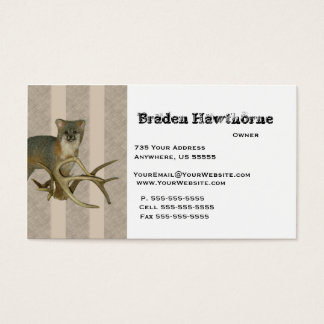 Fox Taxidermy Business Cards