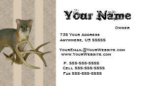 Taxidermist business cards templates zazzle fox taxidermy business cards colourmoves