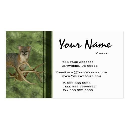 Taxidermy Business Cards Design