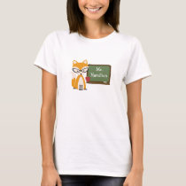 Fox Teacher At Chalkboard T-Shirt