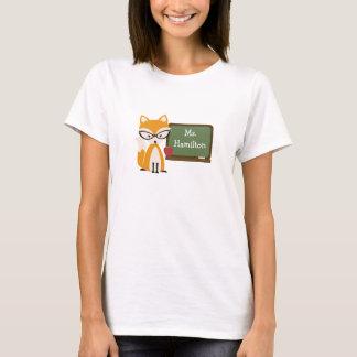 Fox Teacher At Chalkboard T-Shirt