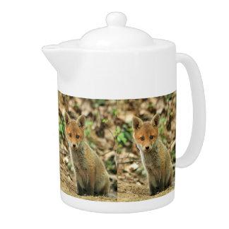 fox teapot, fox coffee pot, fox gift teapot