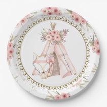 Fox TeePee Tribal Baby Shower Paper Plates