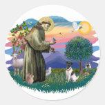 Fox Terrier 1 Round Stickers