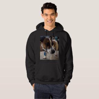 Fox Terrier, Attraction Mens Black Hoodie