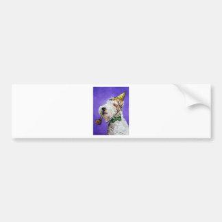 Fox Terrier Birthday Bumper Sticker