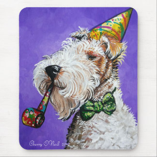 Fox Terrier Birthday Mouse Pad