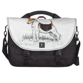 Fox terrier bolsas para portátil