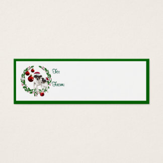 Fox Terrier Christmas Wishes Gift Tags