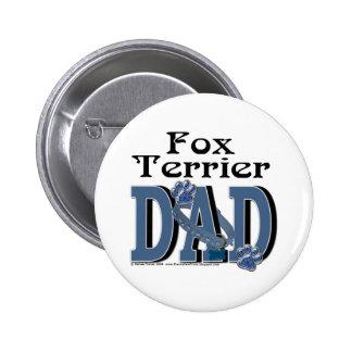 Fox Terrier DAD 2 Inch Round Button