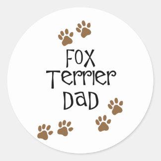 Fox Terrier Dad Classic Round Sticker