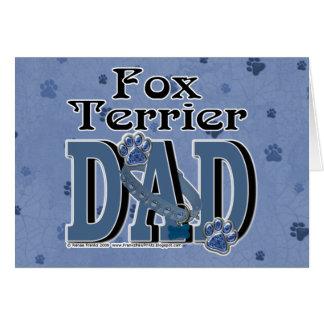 Fox Terrier DAD Greeting Card