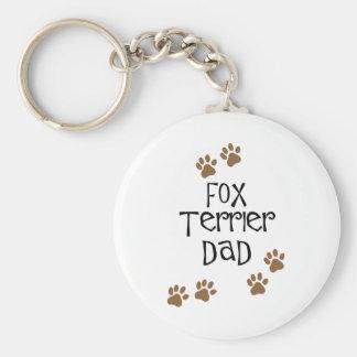 Fox Terrier Dad Keychain