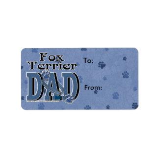 Fox Terrier DAD Label