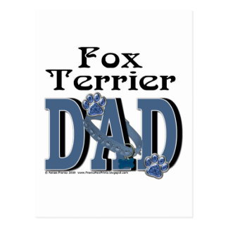 Fox Terrier DAD Postcard