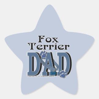 Fox Terrier DAD Star Sticker