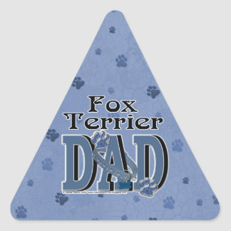 Fox Terrier DAD Triangle Sticker