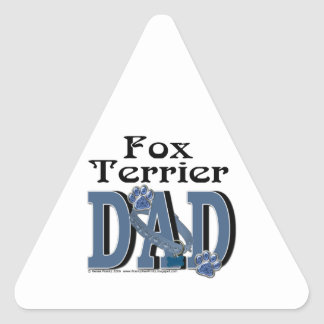 Fox Terrier DAD Triangle Sticker