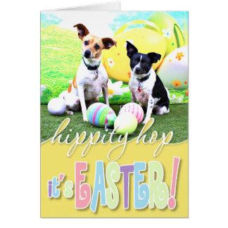 Fox terrier de Pascua - Sadie y Baboo Tarjeta De Felicitación