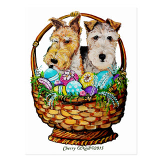 Fox terrier de Pascua Tarjetas Postales