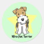 Fox terrier del alambre de la estrella de Kawaii Etiquetas