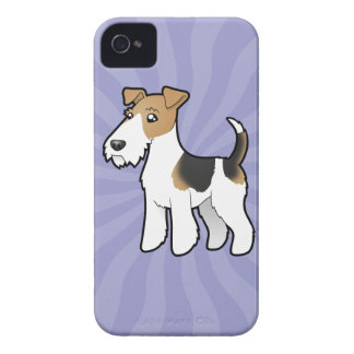 Fox terrier del alambre del dibujo animado carcasa para iPhone 4 de Case-Mate