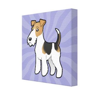 Fox terrier del alambre del dibujo animado impresiones en lona estiradas