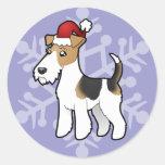 Fox terrier del alambre del navidad