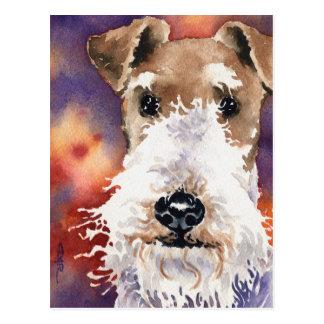 Fox terrier del alambre tarjeta postal
