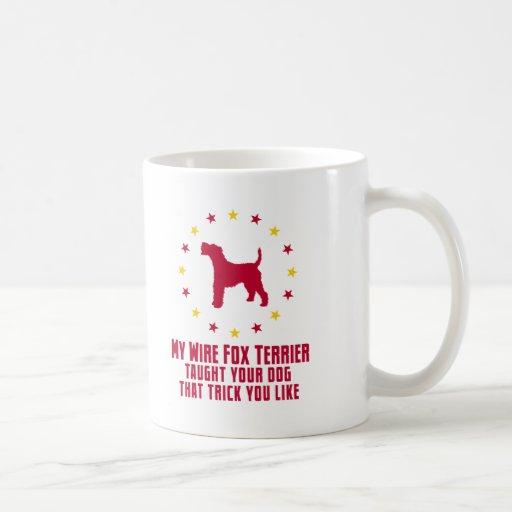 Fox terrier del alambre tazas
