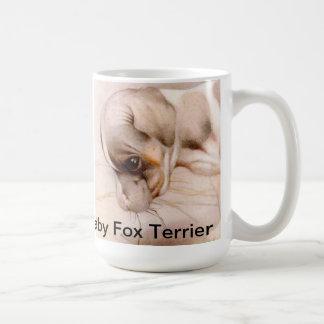 Fox terrier del bebé taza