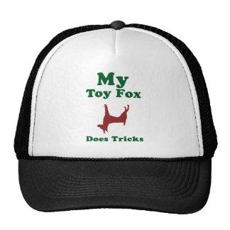 Fox terrier del juguete gorros bordados