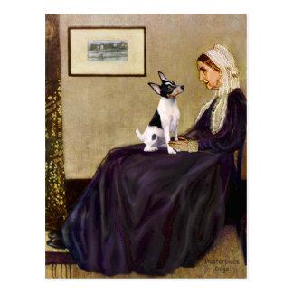 Fox terrier del juguete - la madre de la marmota postales