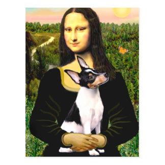 Fox terrier del juguete - Mona Lisa Tarjeta Postal