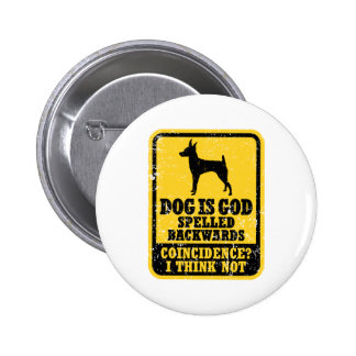 Fox terrier del juguete pin redondo 5 cm