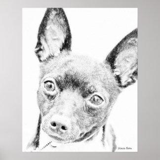 Fox terrier del juguete póster